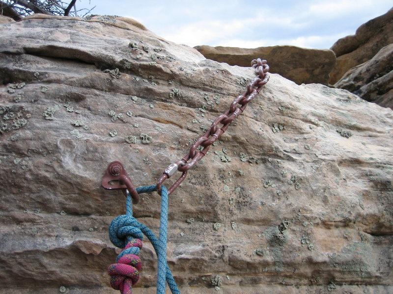 Rock Climbing Photo: rap anchor on north side
