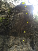 Rock Climbing Photo: Routes on the Membrane Roof