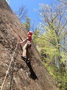 Rock Climbing Photo: 1st bolt