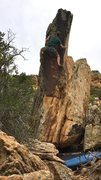 Rock Climbing Photo: Gunning for the last left hand hold before the fin...
