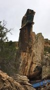 Rock Climbing Photo: Finally snagging a jug