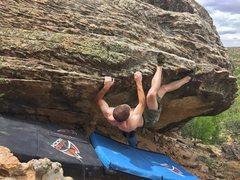 Rock Climbing Photo: The R-->L variation