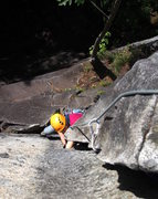 Rock Climbing Photo: Climbing just above the overlap on P2 of GM.