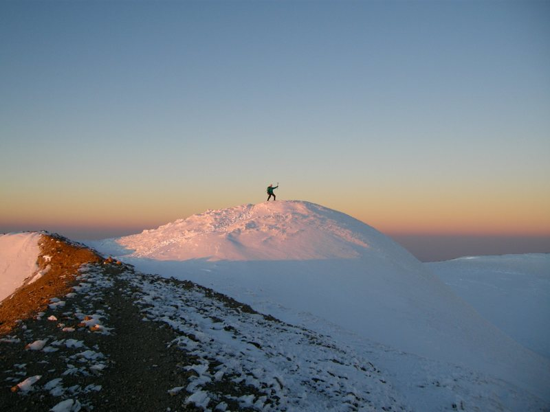 Mt. Rainier summit.