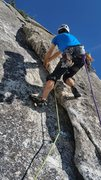 Rock Climbing Photo: The strenuous start to Standup Flake. Photo credit...