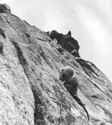 Rock Climbing Photo: Karl Horak on Clem's Folly, early 1970s  photo by ...