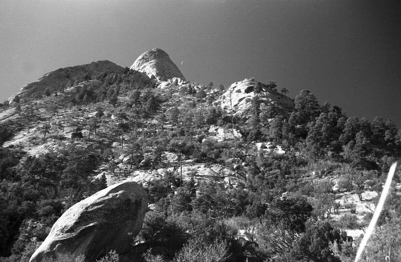 Sugarloaf from the East Slabs Saddle about 1974<br> <br> photo by Roger Guinn