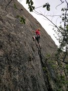 Rock Climbing Photo: Craig Anderson on pitch one of Knickerbocker Glory...