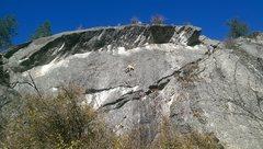 Rock Climbing Photo: Travis Nelson on Razor's Edge, 11a.