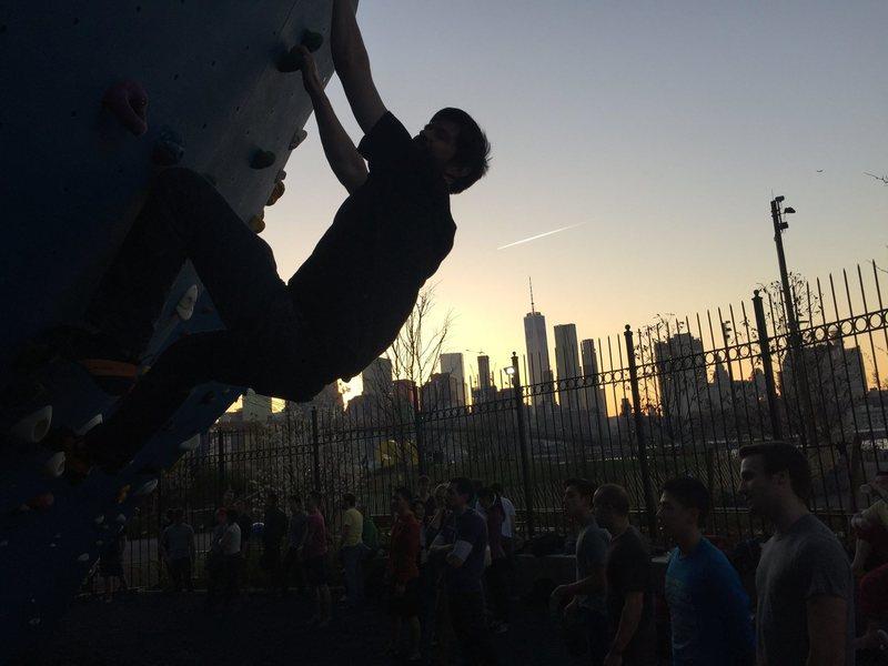 Bouldering in Dumbo, Brooklyn