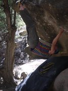 Rock Climbing Photo: optional toehook start on Venghazi Kick photo by A...
