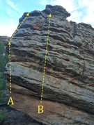 Rock Climbing Photo: A) Monochorionic B) Diamniotic