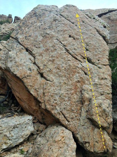 Rock Climbing Photo: The Triangle Slab