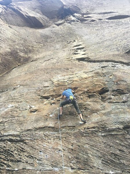 Rock Climbing Photo: On K.S.B. at Red River Gorge in KY