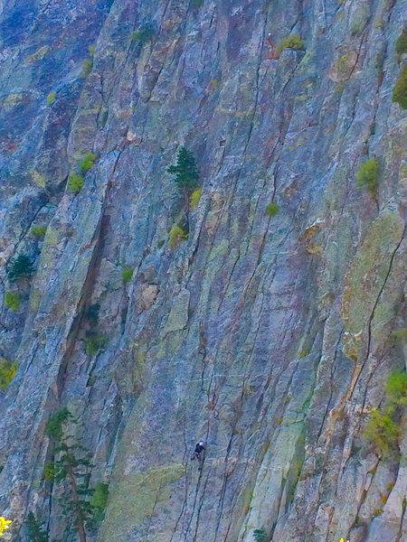 Rock Climbing Photo: Howard and Jake during there FA of Meddle on The M...