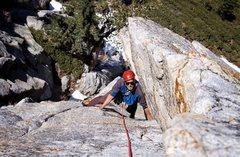 Rock Climbing Photo: Chris Hubbard following Rainshadow!!!! Photo by Jo...