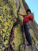 Rock Climbing Photo: Jordan Cannon just before the FFA of The Green Fla...