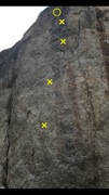 Rock Climbing Photo: 4 bolts, chain anchors