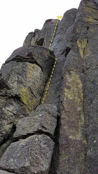 Rock Climbing Photo: Rap Route.