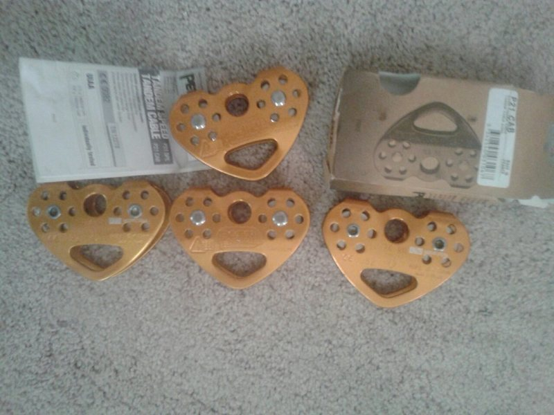 Brand New Petzl Tandem Double Pulley<br> 5 for Sale-$40 each
