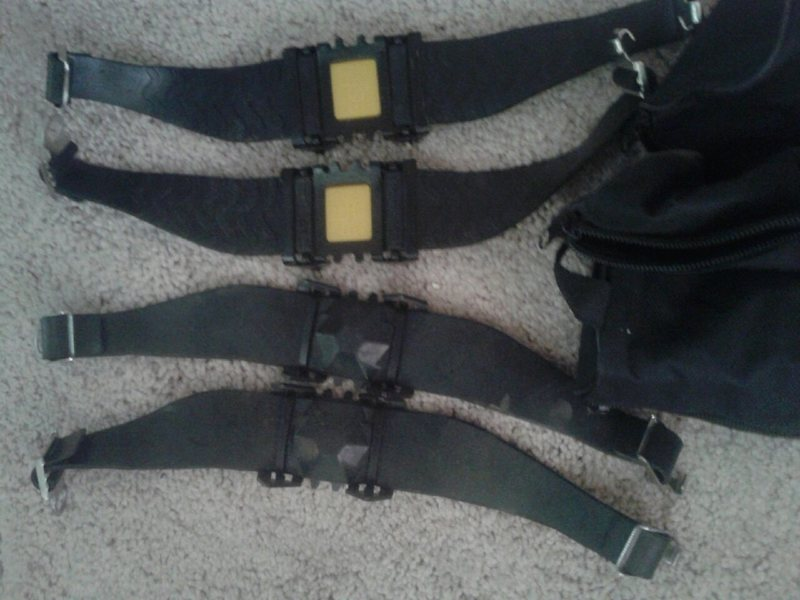 Brand New Strap on Crampons<br> Light Weight- perfect for the Sierra <br> Good for Five Ten Runners use on easy glacier approaches, 3 pairs, $15 each