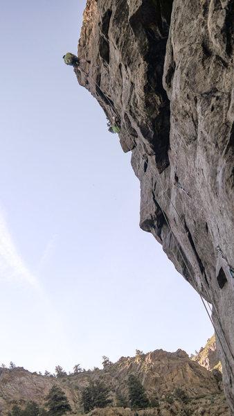 Kenny D. climbing.