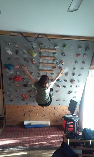 Rock Climbing Photo: 8 ft by 9 ft 8 in wall