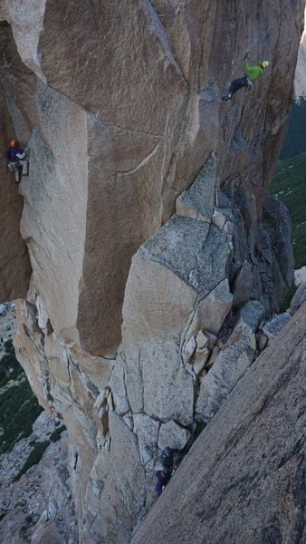 Rock Climbing Photo: Looking over at Aguja Frey from the p2 anchor