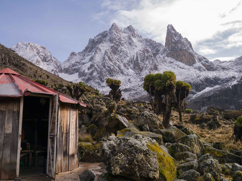 Rock Climbing Photo: Mt Kenya after fresh snow