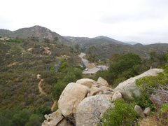 Rock Climbing Photo: Trout Cove parking area and trail from the Y Crack...