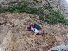 Rock Climbing Photo: Steep but juggy finish