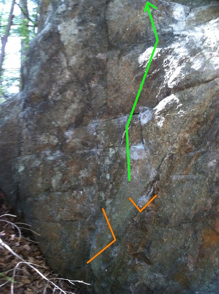 Rock Climbing Photo: The line starts the same as Lord of the Flies but ...