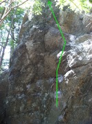 Rock Climbing Photo: The top portion of the climb