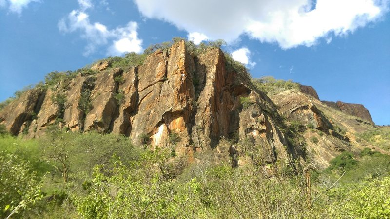 Elephant Rocks are a lower, more accessible crag, with high-quality routes.