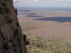 Rock Climbing Photo: Thin, hard climbing on Behemoth.