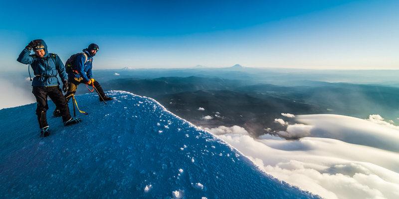 Windy on the summit.