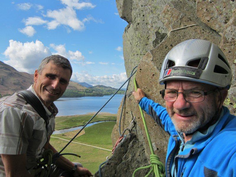 Rock Climbing Photo: With New Hampshire Guide Jim Shrimberg on Shepherd...