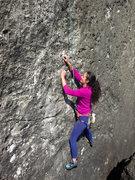 Rock Climbing Photo: Small crimps, delicate climbing, FUN!