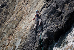Rock Climbing Photo: Not so bad! Best to sew it up in that rock, just t...
