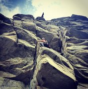 Rock Climbing Photo: Leading Lost at Sea