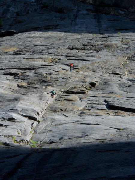 Rock Climbing Photo: In the spring and fall the MCR Apron has fluctuati...