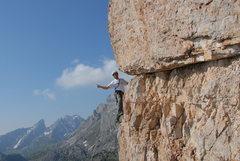Rock Climbing Photo: Enrico Maioni climb on Diretta Dimai