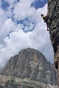 Rock Climbing Photo: Enrico Maioni on Torre Trephor - © guidedolomiti....