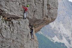 Max & Frank climbing on Torre Quarta Bassa - © <a href='http://guidedolomiti.com' target='_blank' rel='nofollow' >guidedolomiti.com</a>