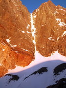 Rock Climbing Photo: St. Jeans Couloir in early morning light. 5/18/201...
