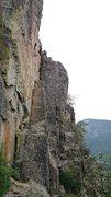 Rock Climbing Photo: Deja Vu, rightmost route (5.9)