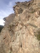 Rock Climbing Photo: It is easy to see the rock jutting out at the top ...