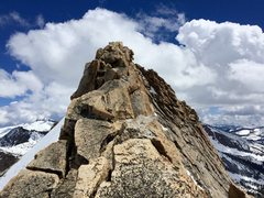 Rock Climbing Photo: Final stretch of knife-edge ridge to the summit