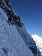 Rock Climbing Photo: At the base of the crux rock pitch. No pics of the...
