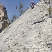 Rock Climbing Photo: Starting up the first pitch. Photo from Kevin Bart...